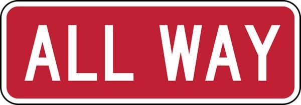 SSHA Znak 4 WAY - Вождение в США - Основные особенности американских ПДД