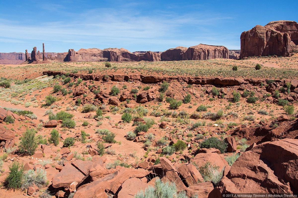 25 Dolina Monumentov - Долина монументов и Подкова - бесподобная природа США