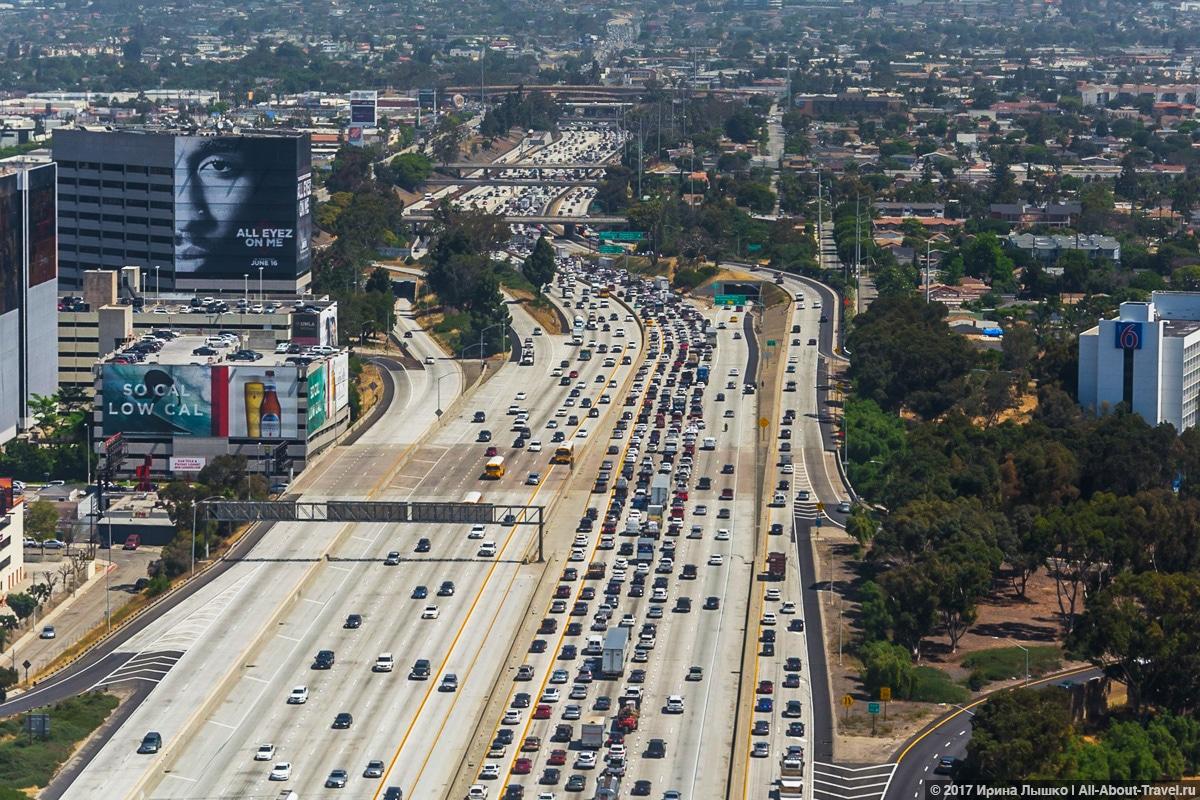 Лос-Анджелес, Съемка_с_самолета