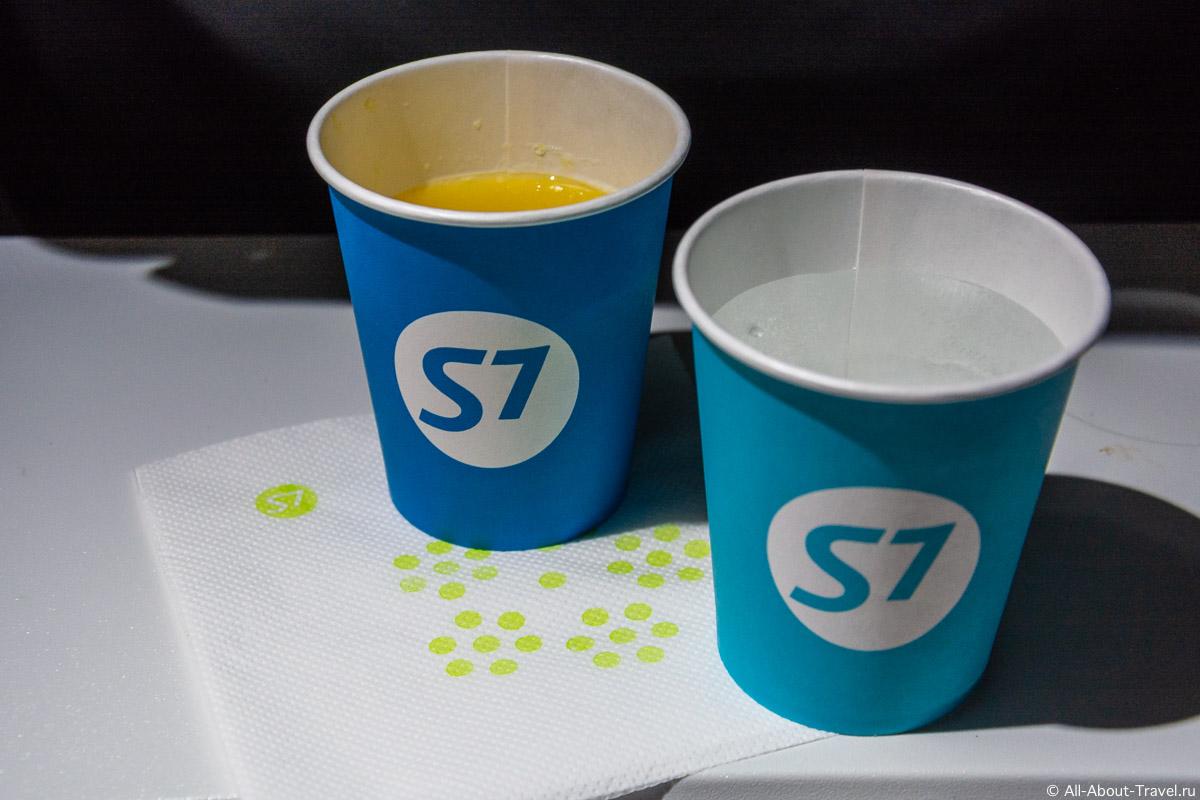Питание на рейсе в Пекин авиакомпании S7