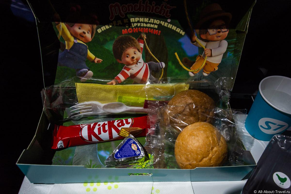 Детское питание на рейсе авиакомпании s7
