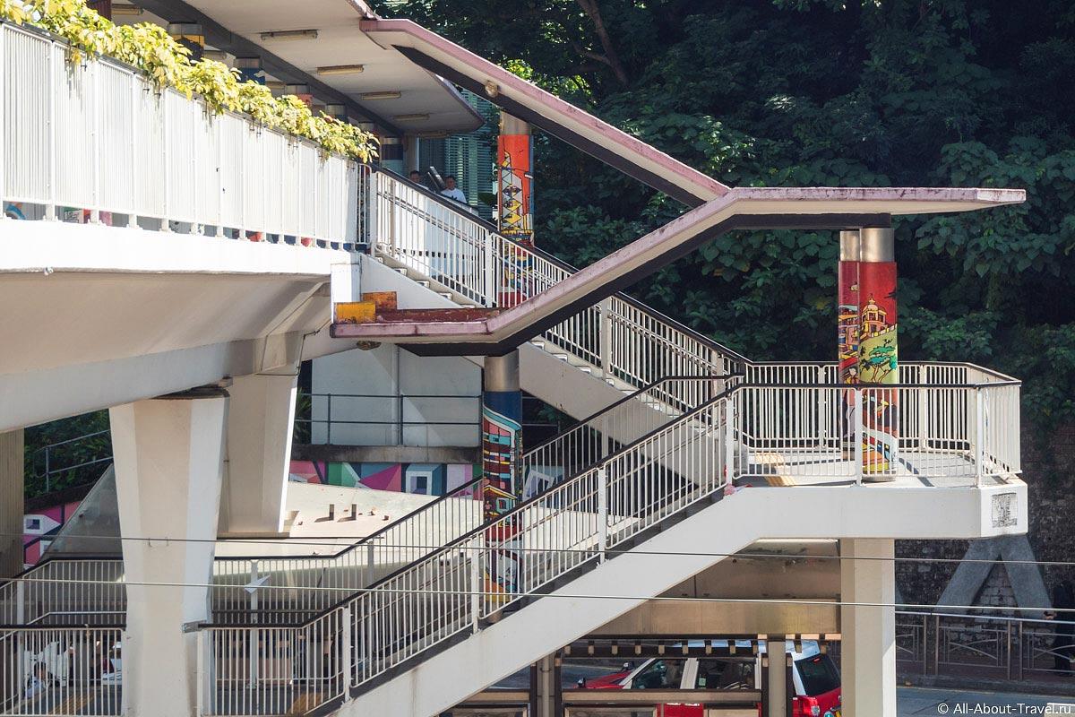 Надземные переходы в Гонконге