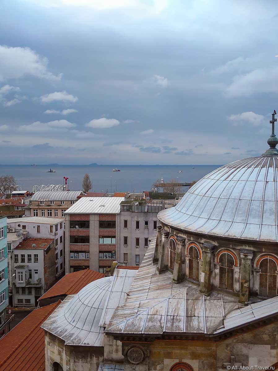 Стамбул - Вид на Мраморное море из отеля